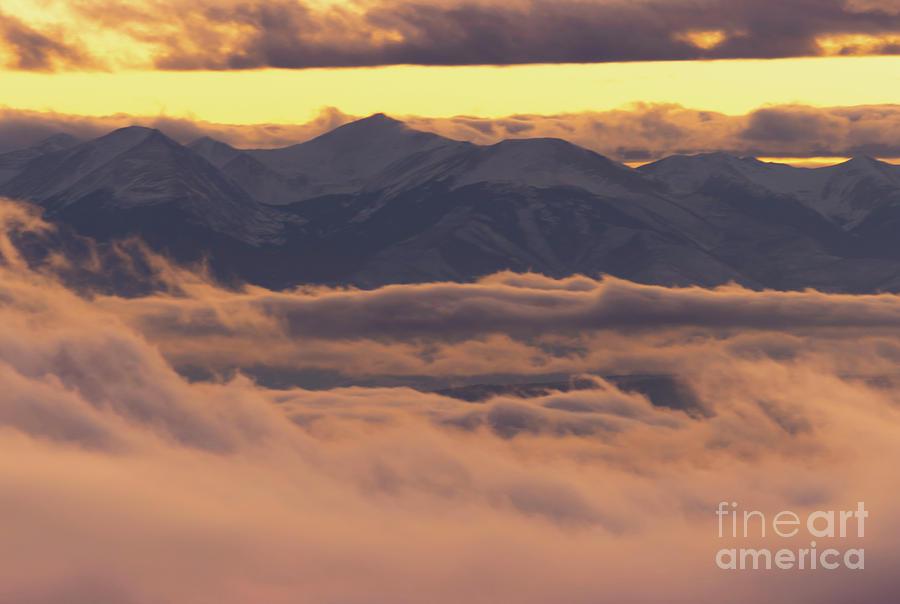 Foggy Sangre de Cristo Sunset by Steve Krull