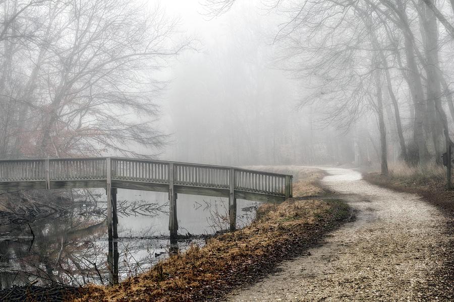 Foggy Winter Towpath Photograph