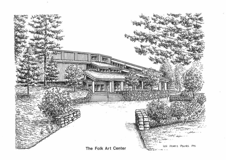 Folk Art Center Drawing by Lee Pantas