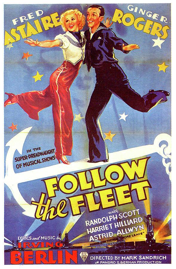 follow The Fleet Movie Poster Mixed Media