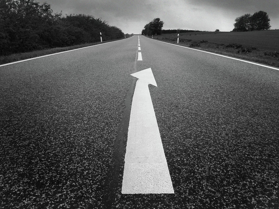 Follow The Road And Look For The Signs When To Leave It Photograph