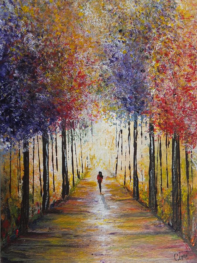 Colors Painting - Follow Your Path by Lisa Cini