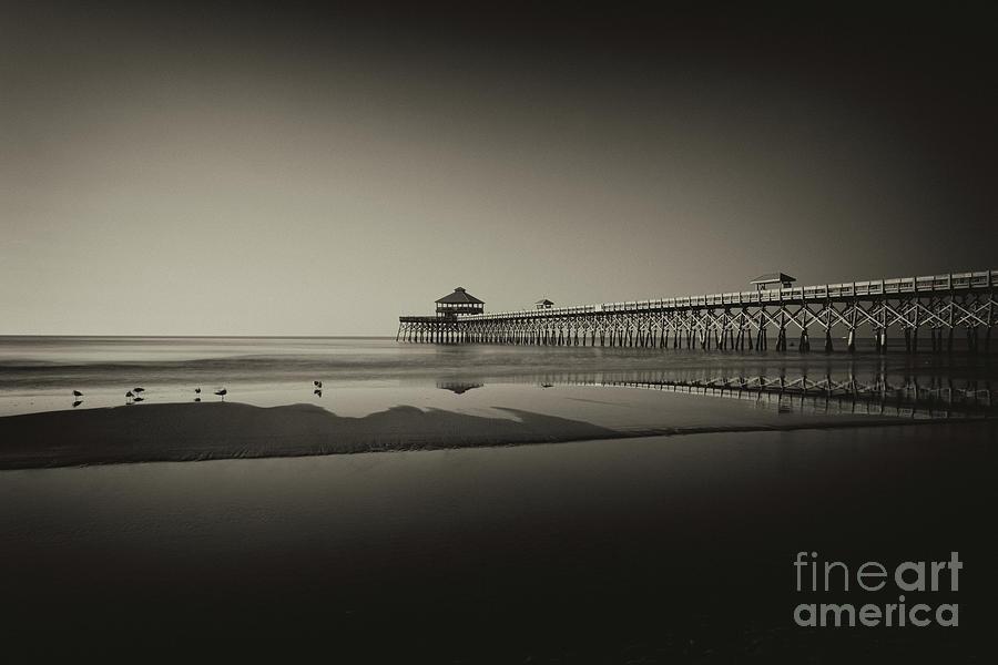Folly Beach Pier - Sepia Photograph