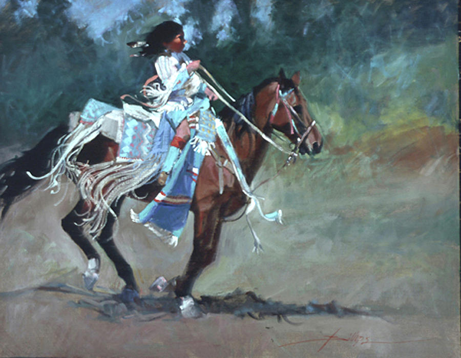 Native American Painting - Foot Loose by Betty Jean Billups