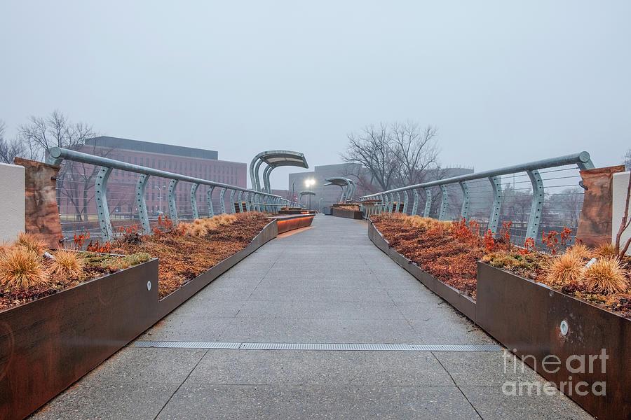 Footbridge in the Mist by Len Tauro