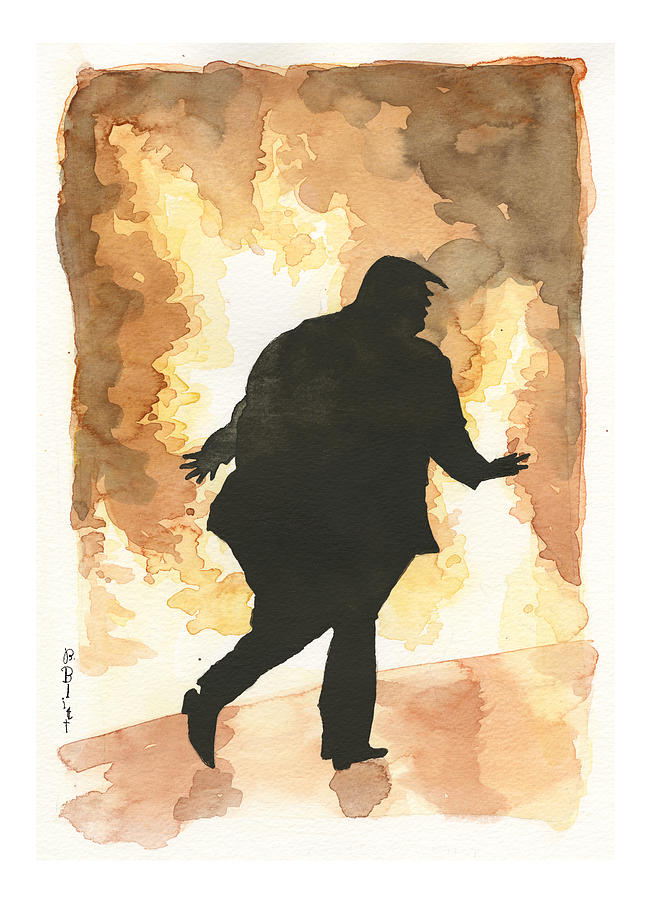 For The Lack Of A President Painting by Barry Blitt