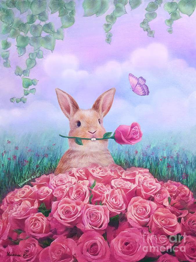 Rose Painting - For You by Yoonhee Ko