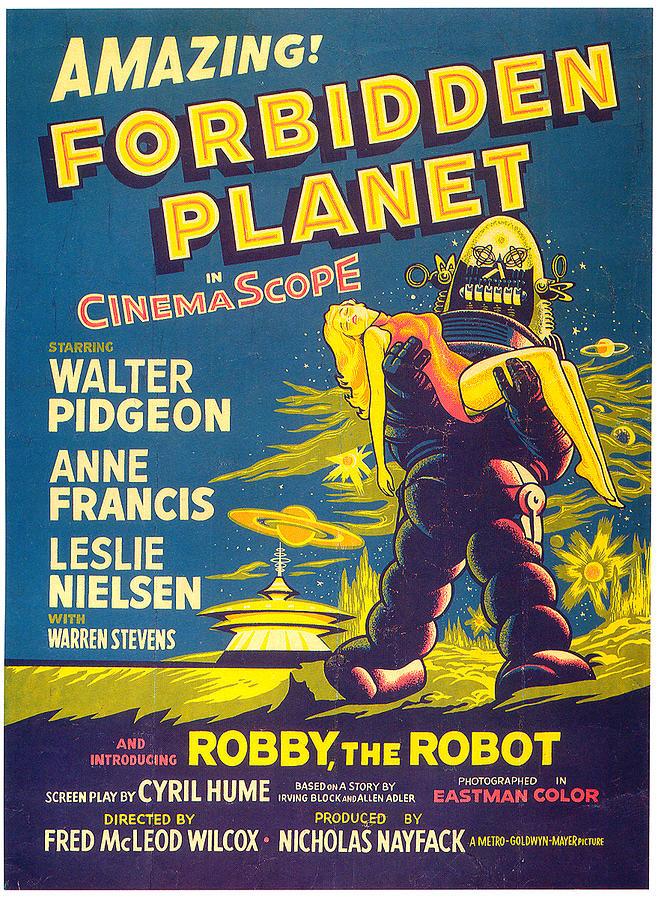 forbidden Planet Movie Poster 1956 Mixed Media