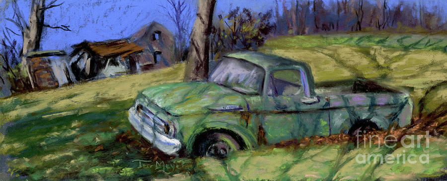 Ford F-100, Remembering the good old days Painting by Terri  Meyer
