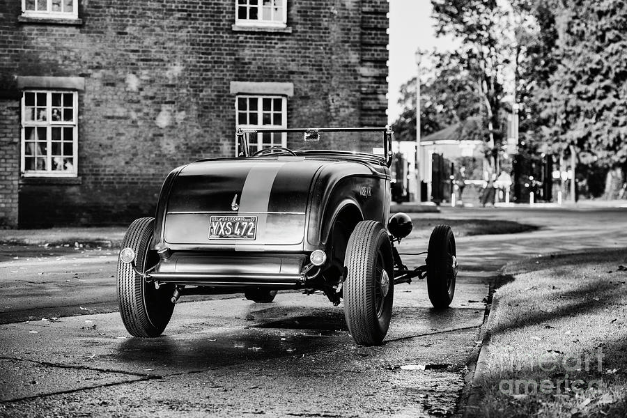 Ford Roadster at Bicester Heritage Monochrome by Tim Gainey