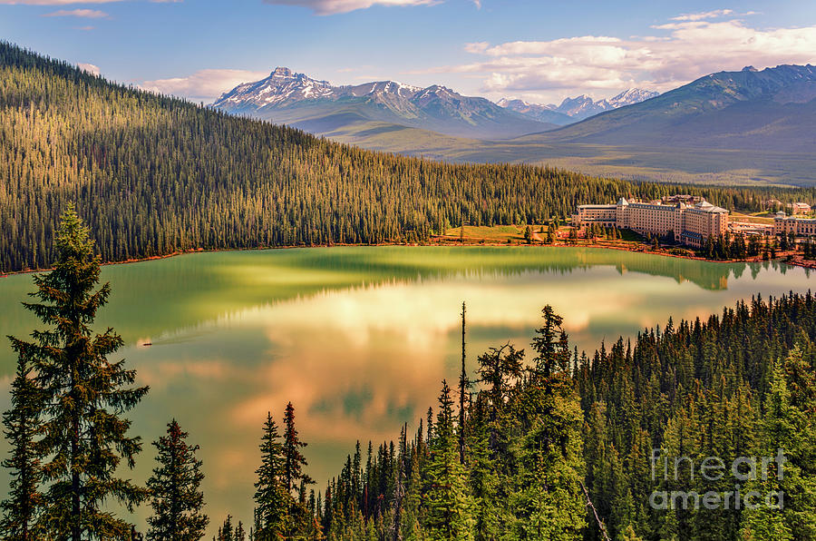 Lake Louise In Banff National Park Photograph