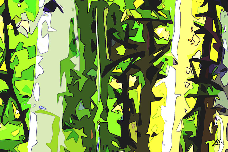 Abstract Digital Art - Forest Aspect Two by Linda Mears