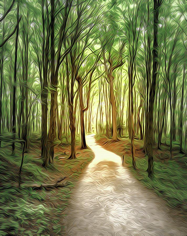 Forest Trail Airbrush Digital Art