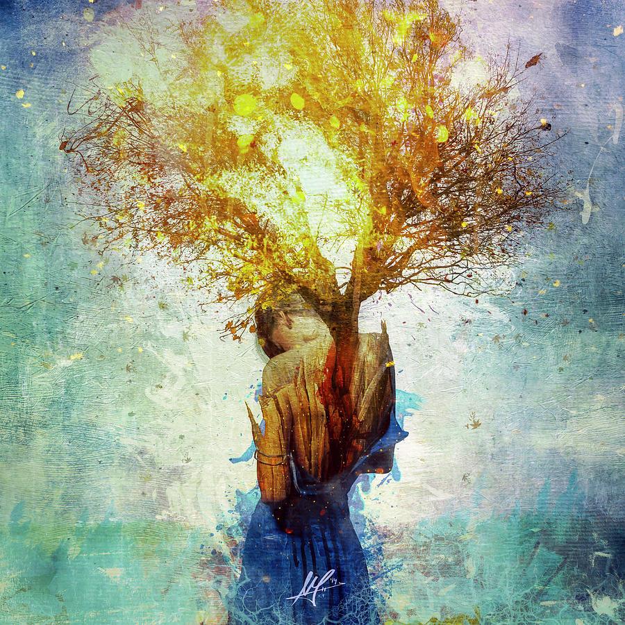 Surreal Digital Art - Forgiveness by Mario Sanchez Nevado