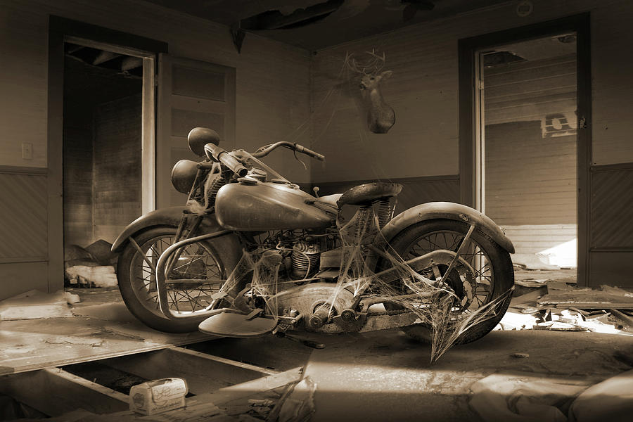 Forgotten Motorcycle by Mike McGlothlen
