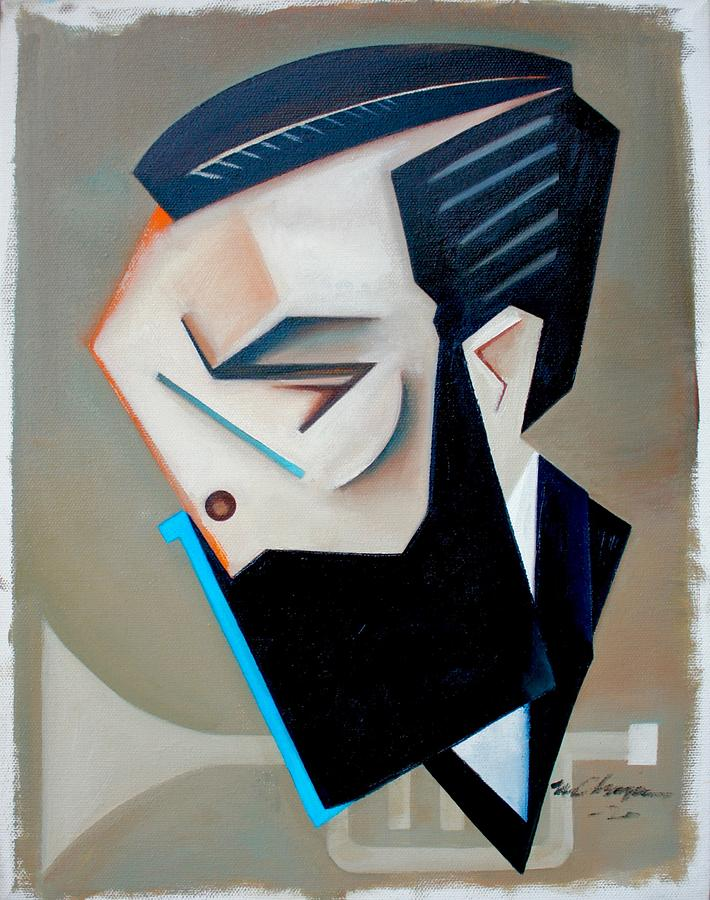 Jazz Painting - Form Theory / a portrait of Josh Lawrence by Martel Chapman