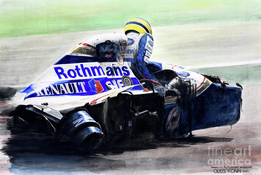 Ayrton Senna Painting - Formula Alone by Oleg Konin