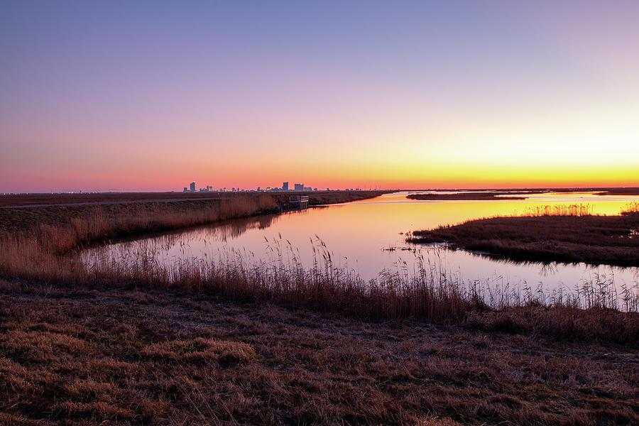 Forsythe Marsh Sunset by Kristia Adams