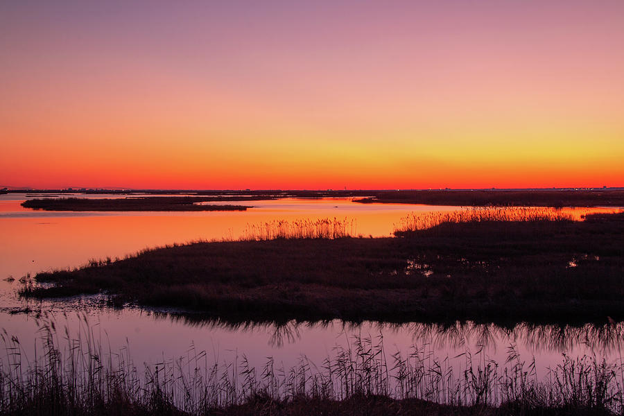 Forsythe Refuge Sunset by Kristia Adams