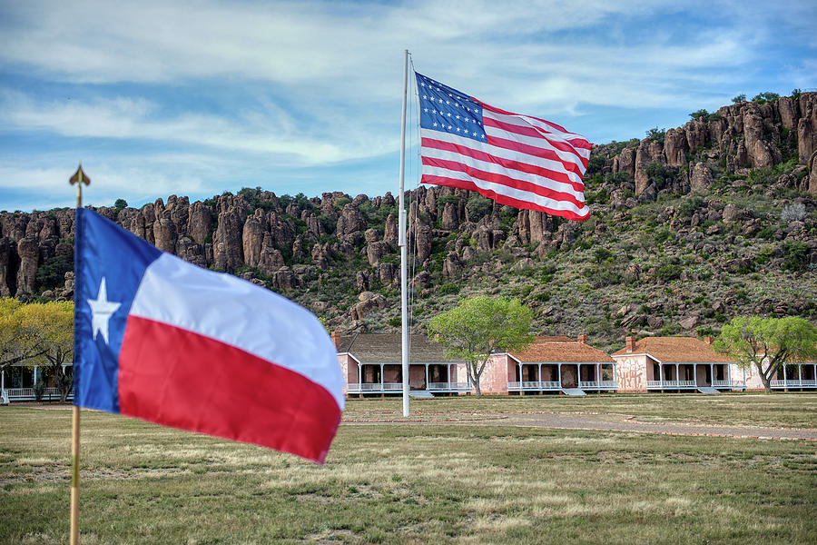 Fort Davis Flags by Paul Freidlund