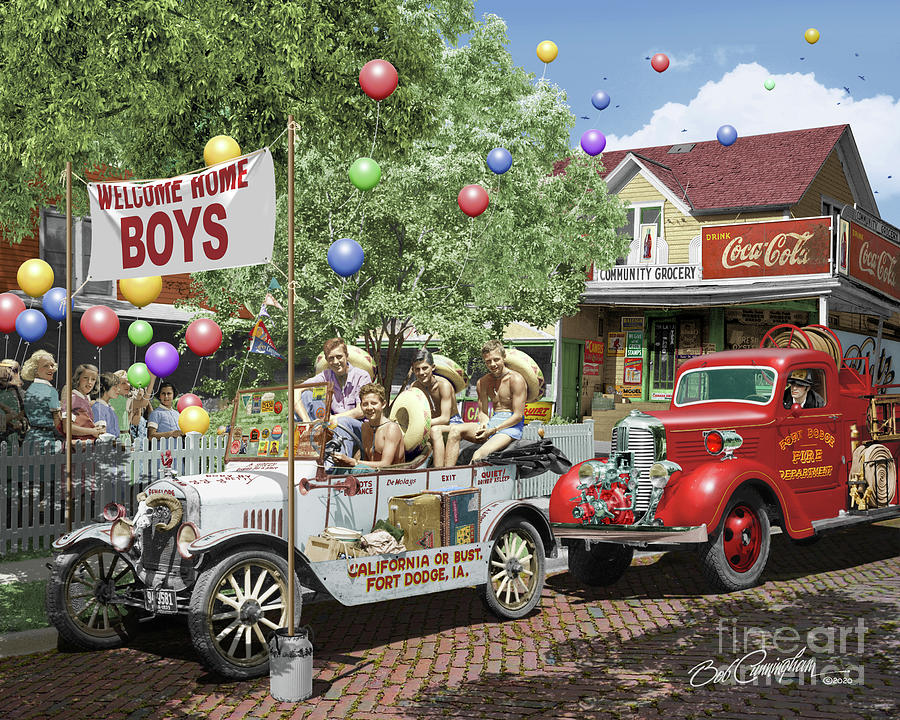 Ford Mixed Media - Fort Dodge Homecoming by Cunningham Studio