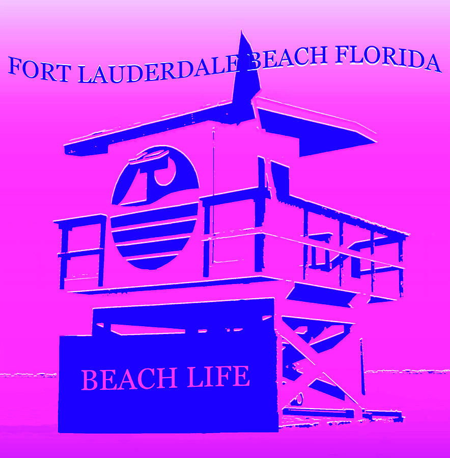 Fort Lauderdale Beach Florida Mixed Media