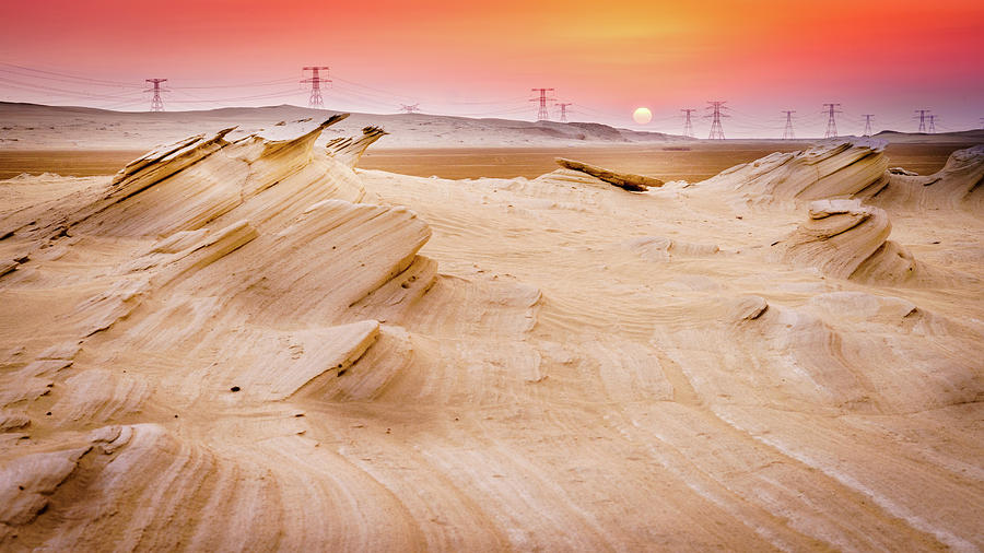 Fossil Dunes At Sunset Photograph