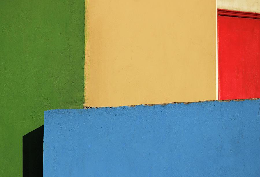 Four Photograph - Four Colored Walls by Prakash Ghai