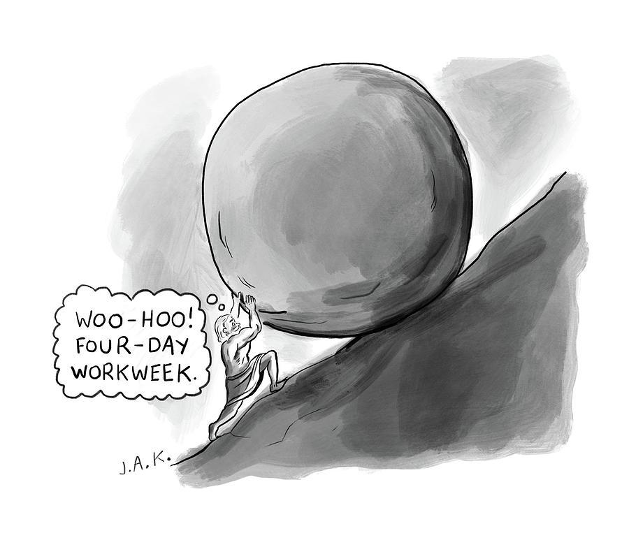 Four Day Work Week Drawing by Jason Adam Katzenstein