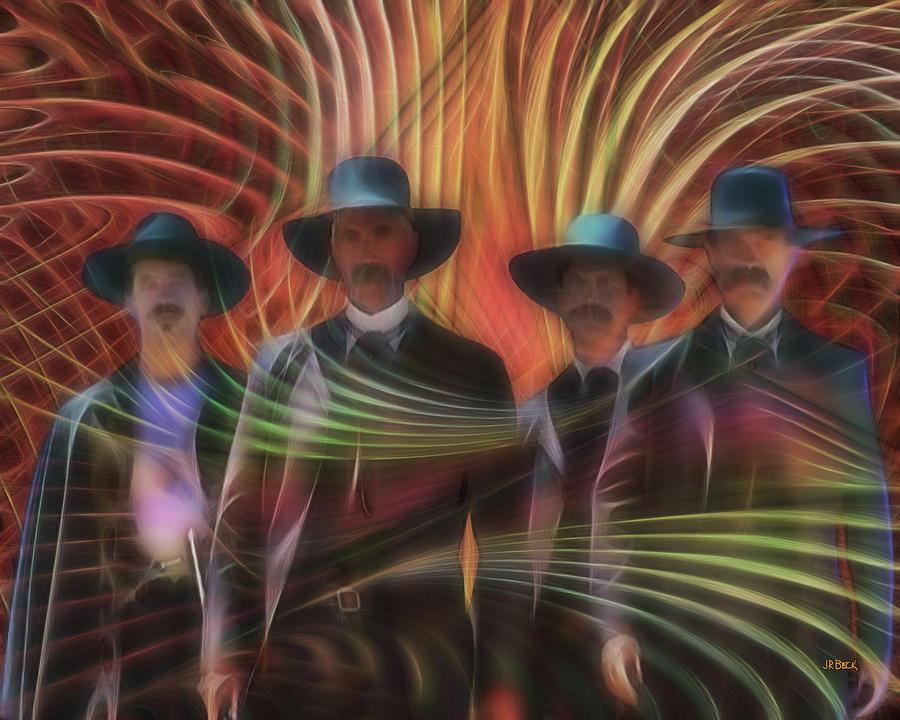 Four Horsemen Digital Art - Four Horsemen by John Robert Beck