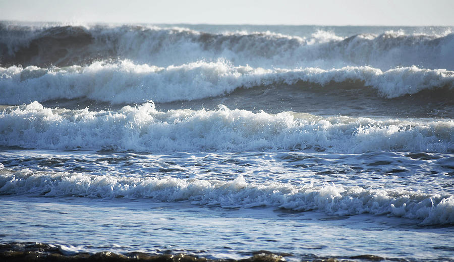 Waves Photograph - Four Waves by D Patrick Miller