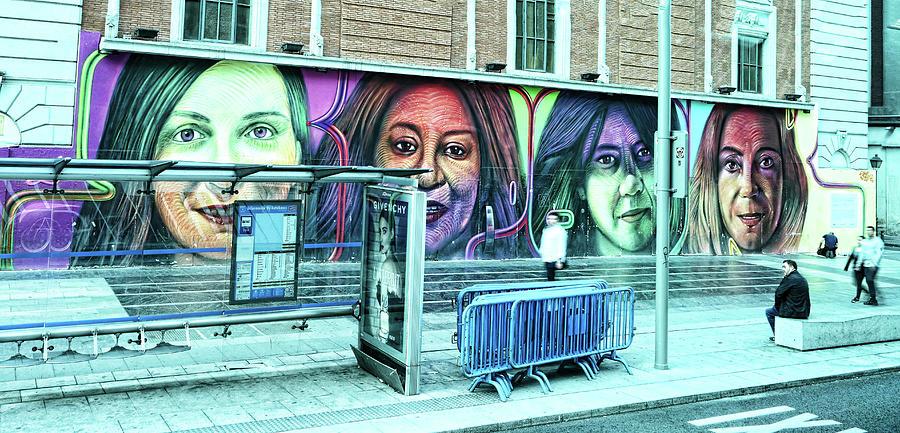 Four Women Mural - Madrid Photograph