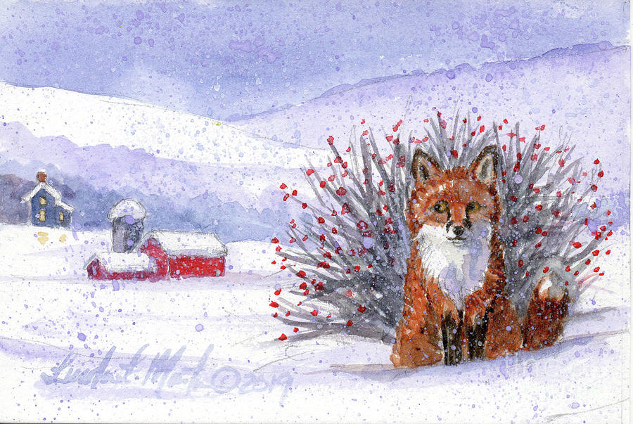 Fox in the Snow by Linda L Martin