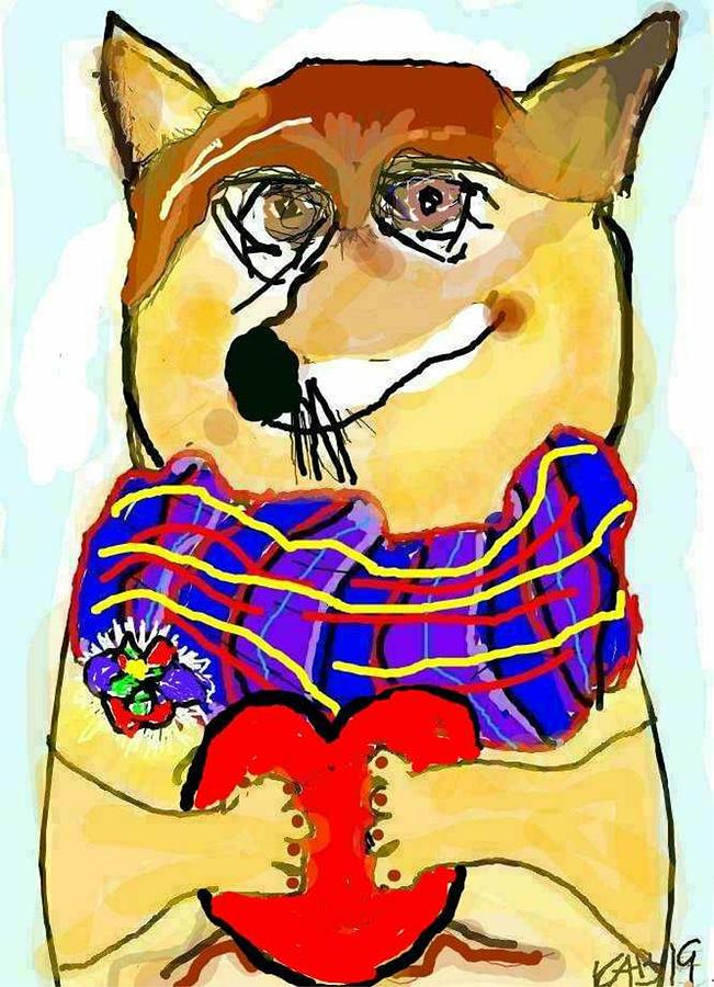 Foxy Heart by Kathy Barney