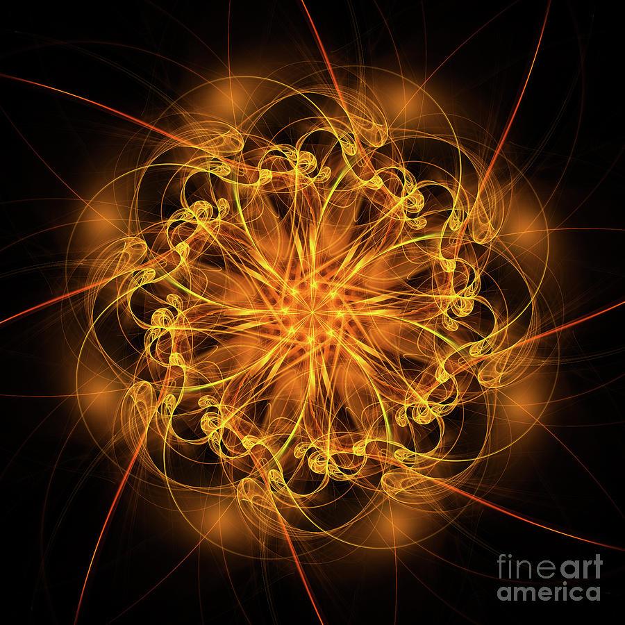 Fractal Fire Star by Ann Garrett