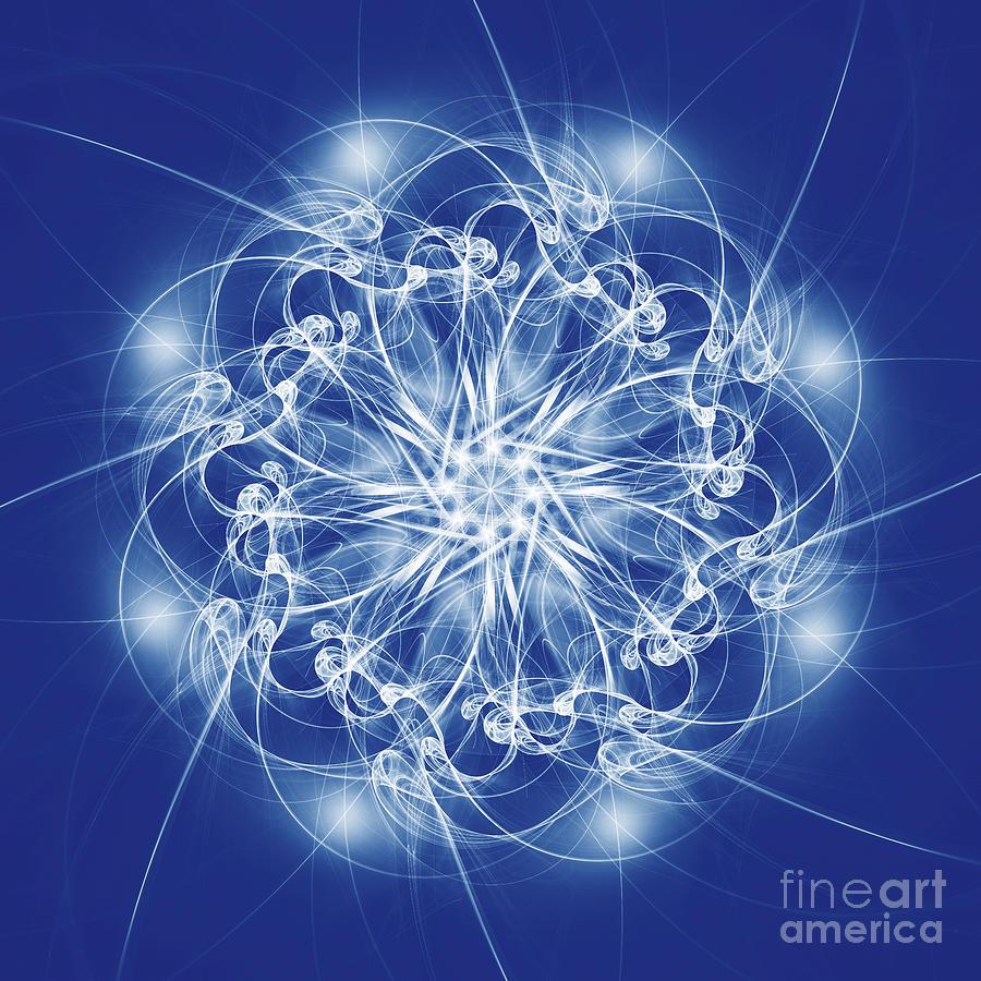 Fractal Ice Star by Ann Garrett