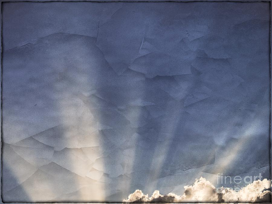 Fractured Sky With Sun Rays Photograph