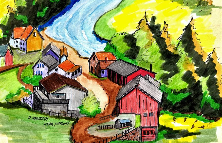 Fram Norway Drawing