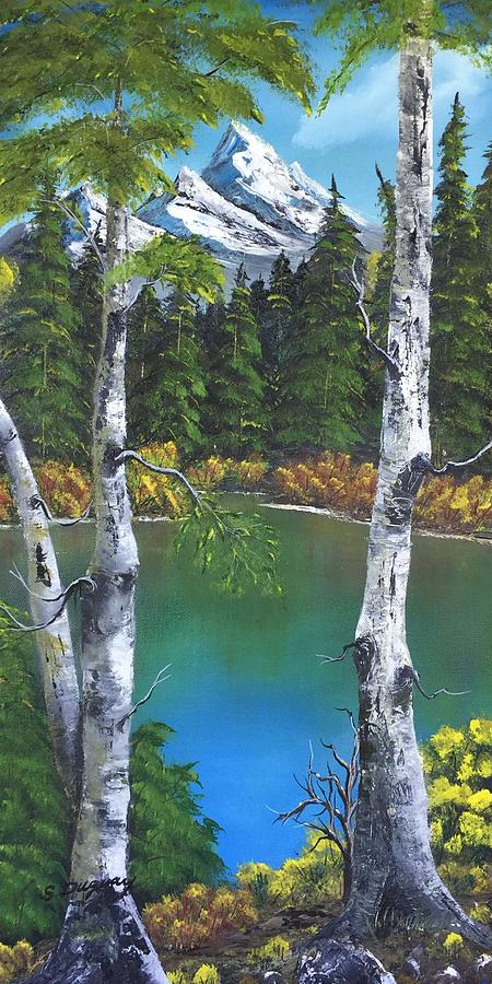 Framed By Birch Painting