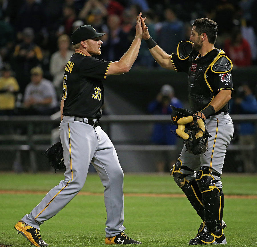Francisco Cervelli and Mark Melancon Photograph by Jonathan Daniel