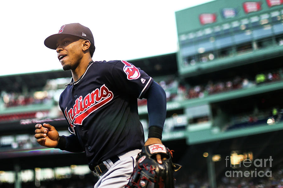 Francisco Lindor Photograph by Adam Glanzman
