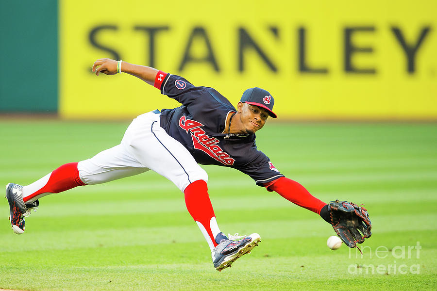 Francisco Lindor and Chase Headley Photograph by Jason Miller