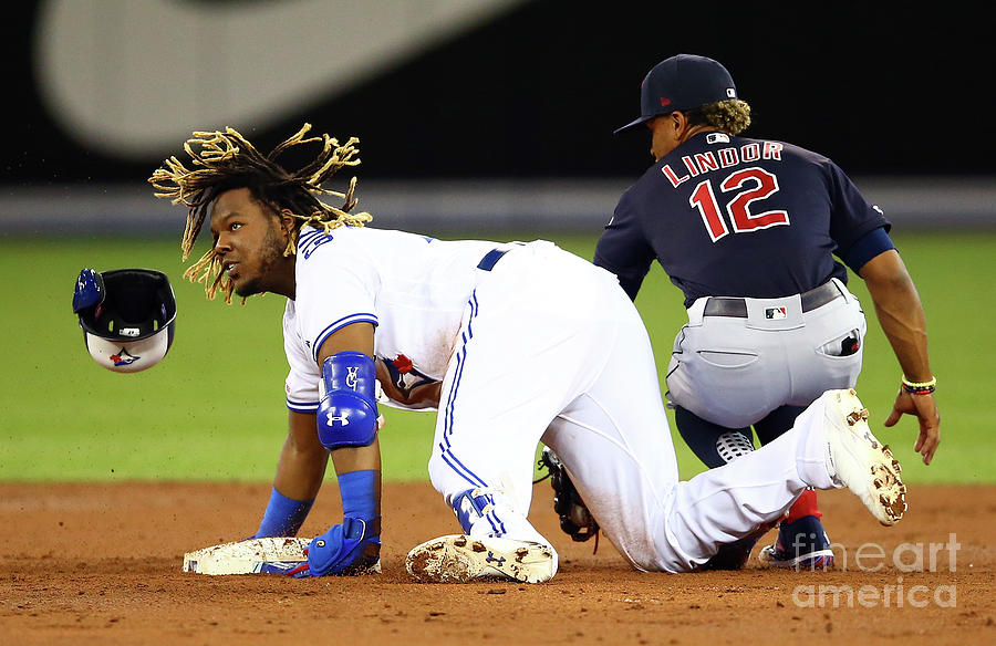 Francisco Lindor And Vladimir Guerrero Photograph by Vaughn Ridley