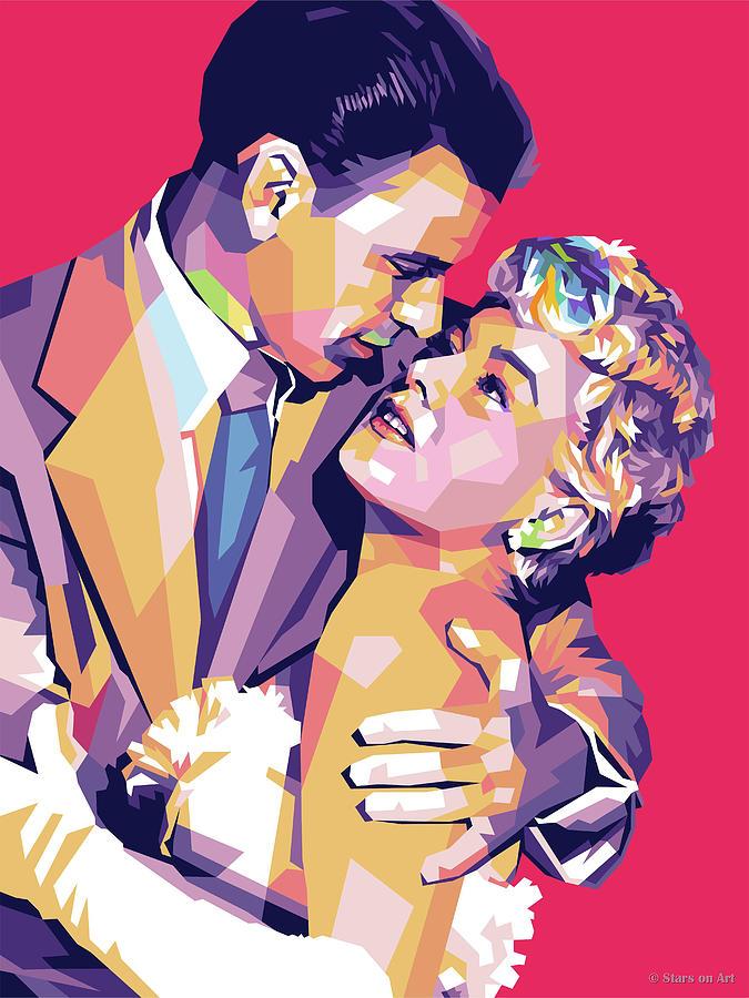 Frank Sinatra And Shelly Winters Digital Art