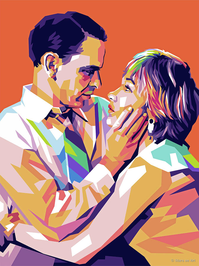 Frank Sinatra And Shirley Maclaine Digital Art