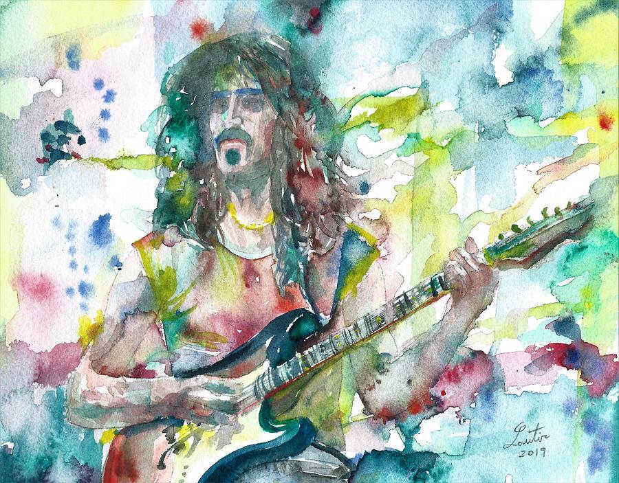 FRANK ZAPPA - watercolor portrait.11 by Fabrizio Cassetta