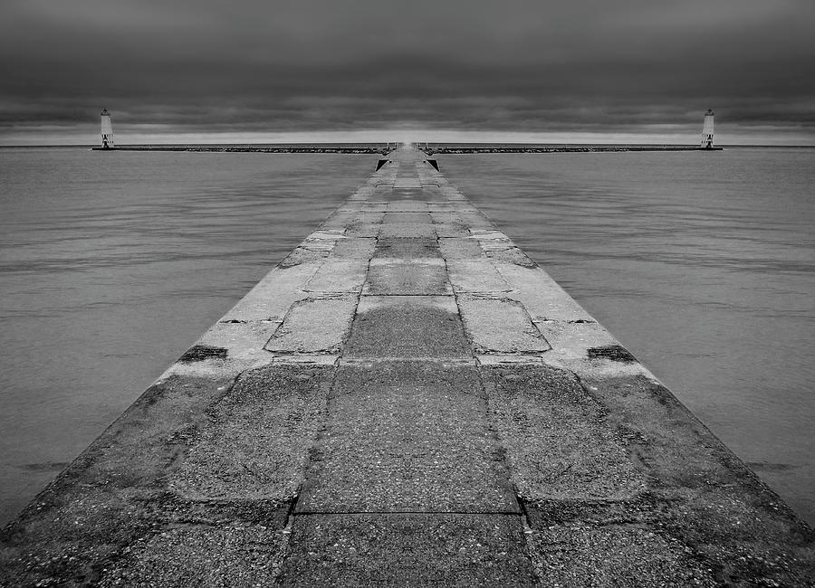 Frankfort Pier Reflection 2 Digital Art