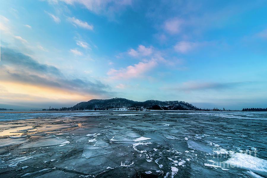 Frankfort Winter On Ice Photograph