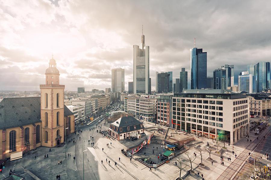 Frankfurt main squares Photograph by Philipp Klinger