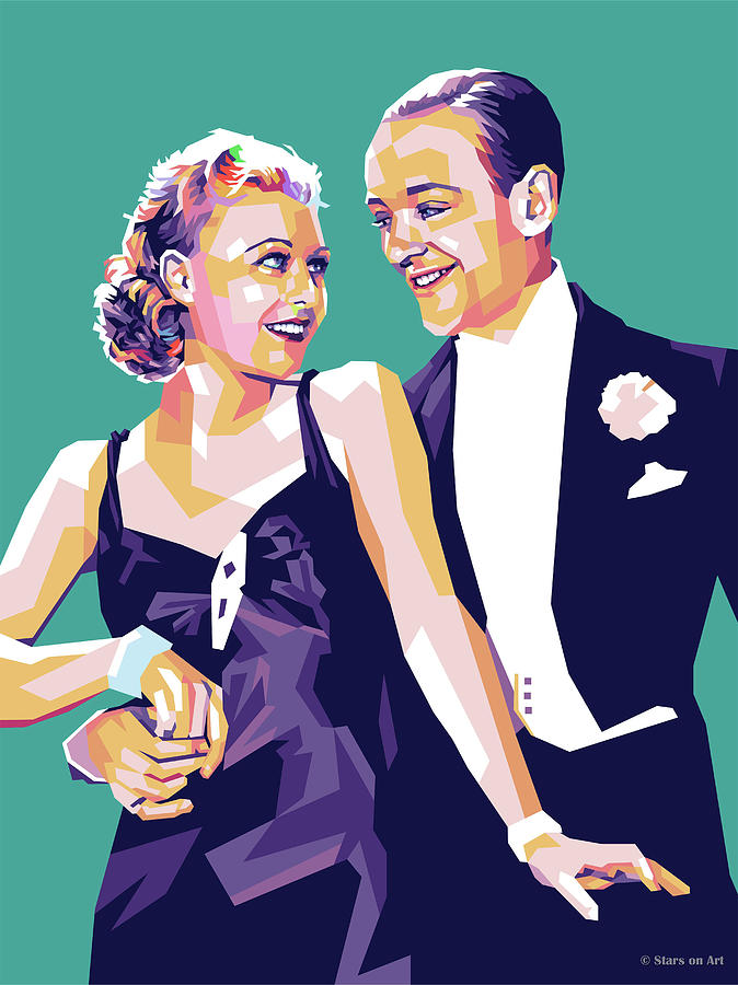 Fred Astaire And Ginger Rogers Painting